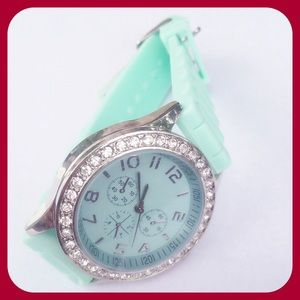 Accessories - Green Silicone Watch